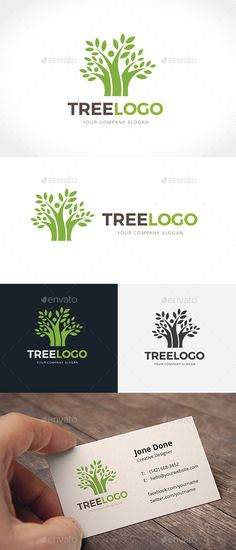 Tree Logo — Vector EPS #corporate #app • Available here → https://graphicriver.net/item/tree-logo/14288577?ref=pxcr