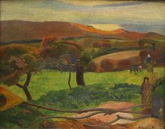 Paul Gauguin, Landscape from Bretagne, 1889 on ArtStack #paul-gauguin #art