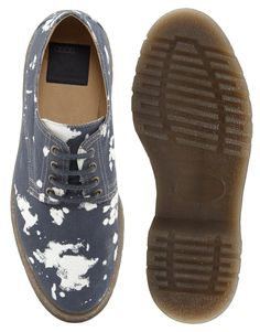 low priced 11e38 3cff5 ASOS Derby Shoes With Bleach Effect A derby (also called bucks or Gibson )  is a style of shoe characterized by shoelace eyelet t.