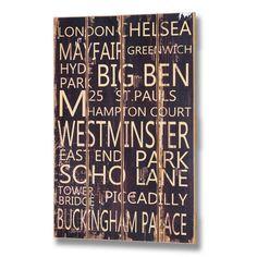 LONDON - sisustustaulu - http://sisustusullakko.com/tuote/london-sisustustaulu
