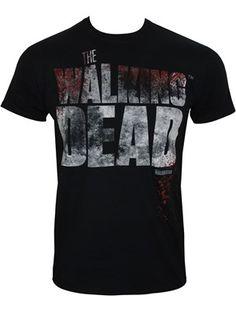 The Walking Dead Splatter Men's Black T-Shirt