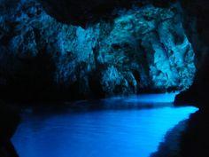 blue cave, bisevo island