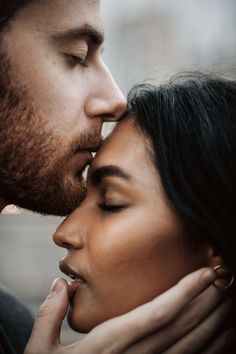 Man kisses young indian woman tender and. Young Couples Photography, Celebrity Photography, Photography Women, International Kissing Day, Female Lips, Couple Activities, Couple Silhouette, Men Kissing, Nyc Wedding Photographer