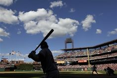 Atlanta Braves pitch hitter Lyle Overbay On Deck in the ninth inning against the Philadelphia Philles