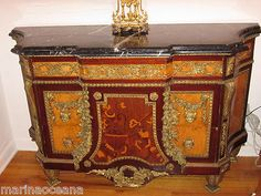 BEAUTIFUL ANTIQUE FRENCH LOUIS XVI INLAID COMMODE DRESSER CHEST BRONZE