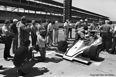 Janet Guthrie drew a great deal of attention during practice for the 1977 event, and even more after she became the first woman to qualify for the Indy 500. Driving Rolla Vollstedt's Lightning 76 1/Offenhauser TC, Guthrie posted the fastest speed on the final day of qualifying.