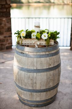 Unity Candle Box. Outdoor wedding. Whiskey Barrel