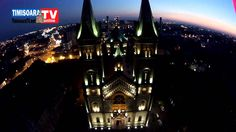 Biserica Millenium din Timisoara vazuta noaptea din drona Cologne, Cathedral, Travel, Viajes, Trips, Traveling, Tourism, Vacations
