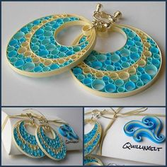 Quilled Paper Earring Patterns and Designs
