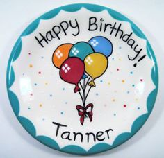 """HAPPY BIRTHDAY!"" Party Balloon Plate"