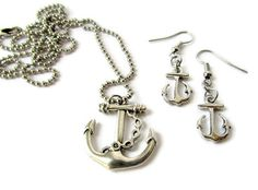 Anchored - Earring / Necklace Set by @justByou   #handmade