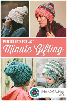 Oh! Love these quick crochet hats for last minute Christmas gifts. Gorgeous!