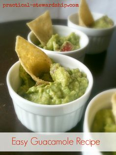 Easy Guacamole Recipe. Used lime instead of lemon. Very good!