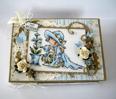 - Moni´s creative place: Lili of the Valley . Light Peach, Light Blue, Card Making Tips, Green Theme, Wishing Well, Lily Of The Valley, Copics, Cute Cards, Christmas Themes