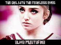 The girl with fearless eyes: Aliya Mustafina♥.