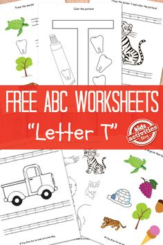 Letter T Worksheets. Print all the letters!
