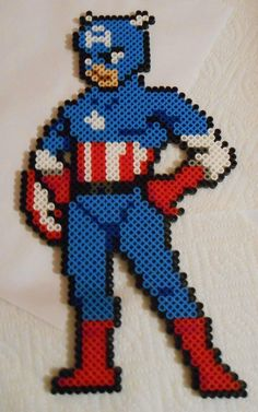 sandylandya@outlook.es  Captain America perler bead by r/beadsprites