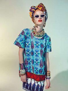 Foulard da avvolgere nei capelli della collezione Stella Jean Primavera/Estate 2013