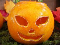 Deko Halloween - 2er Set Kürbis Windlichter aus Keramik - ein Designerstück von Dreamceramics bei DaWanda
