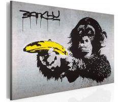 Картина на стену - Остановить или обезьяна будет стрелять! - Бэнкси