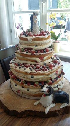 Naked cake mit Hund