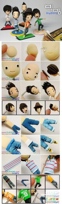 Korean boyband Bigbang in clay