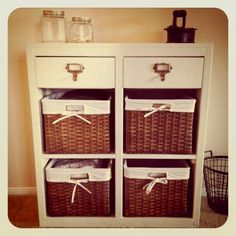 Something like this could definitely work... make some of the shelves wine storage?? Hallway storage