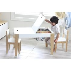 Modern Kids Table Set Makeover – No Power Tools Required Kids desk with storage Related posts: Easy DIY Kids Table and Chair set with Free Plans Simple Kid's Table and Chair Set Ikea Kids' Table and Chairs Makeover How to Make a DIY Farmhouse Kid's Table