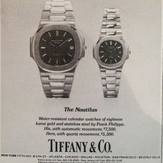 Just love the good old days! @johnreardon570 please invent the time machine! 1970s Ad; $7500 for a #patekphilippe Nautilus 3700/1A with Tiffany dial Now worth close to $30k