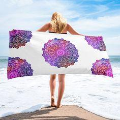 Mandala Soft Beach Towel Unique Print Big Gift Holiday Bath Bathroom Decor Yoga Meditation