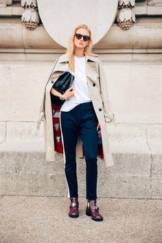 NASTYA STEN - SS17 PFW - Sep 2016 - Model's look: lo stile delle modelle a Parigi - Vogue.it