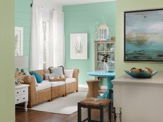 interior paint colors inspired by the beach   20 Ideas to Create Coastal-Inspired Living Rooms - 2013 Hominspire.com ...love these colors