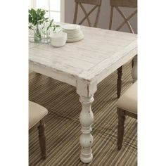 Gather the family around the gorgeous Riverside Aberdeen Rectangular Dining Table . This lovely table is constructed with sturdy hardwood and poplar. Furniture, Dining, Riverside Furniture, Domestic Furniture, Rectangle Dining Table, Dining Table, Table, Rectangular Dining Table, White Wash Table