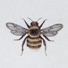 embroidered bee by emillie ferris