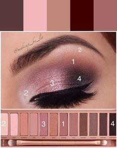 Make it Up color theme by Amy Rist - Makeup Tutorial Foundation Makeup Dupes, Skin Makeup, Eyeshadow Makeup, Beauty Makeup, Makeup Tutorial Foundation, Smokey Eye Makeup Tutorial, Eye Makeup Steps, Simple Eye Makeup, Make Up Tutorials