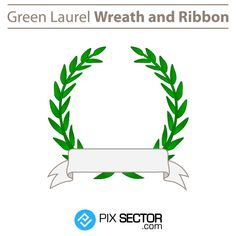 Free green laurel wreath and ribbon - Pixsector Free Vector Images, Vector Free, Free Vector Illustration, Laurel Wreath, Psd Templates, Ribbon, Wreaths, Green, Photos