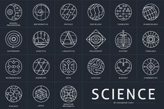 26 Conceptual Science Marks by Youhhou on @creativemarket