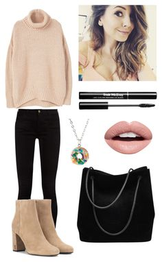 zoe by nicole-ler on Polyvore featuring polyvore fashion style MANGO Gucci Yves Saint Laurent Nevermind clothing