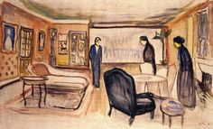 The Athenaeum - Set Design for Henrik Ibsen's Ghosts (Edvard Munch - )