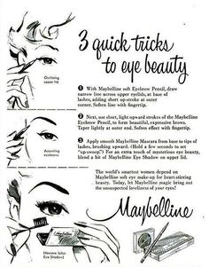 Vintage Maybelline ad from 1954