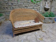 Wicker sofa will adorn any room in your home.If the color of the fabric is not suitable to your interior,write consider options togetherNot a toy, only for adult collectors! The brightness and shade of the colors may be slightly different from what you see on the screen of your computer. It will be well packaged and sent by air Russian Post. Please look on my other listings. I combine shipping! If you have any questions please email me. Thank you for your attention, good shopping) Thank you…