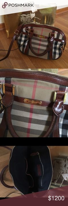 Beautiful Burberry Handbag NEW MARKDOWN!* Authentic Classic plaid Burberry handbag ~ Lightly worn in beautiful condition. Comes with strap to make as a crossbody. Burberry Bags
