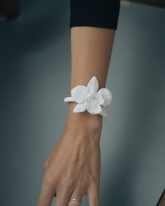 Orchid Bracelet 3D Printed Jewelry in Nylon by CollectedEdition