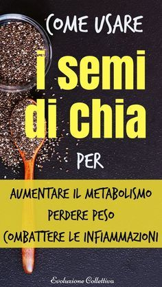 I semi di chia sono ricchissimi di benefici per la nostra salute. Questo ingrediente ricco di vitamine e minerali, aiuta a perdere peso, ridurre il desiderio di cibo e sentirsi più energici Health And Beauty, Health And Wellness, Health Fitness, Healthy Drinks, Healthy Tips, Healthy Recipes, Natural Life, Natural Health, Nutrition Information