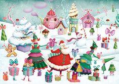 xmas-ok Marie Desbons Christmas Scenes, Noel Christmas, Little Christmas, Christmas Wishes, Christmas Greetings, Winter Christmas, All Things Christmas, Vintage Christmas, Xmas