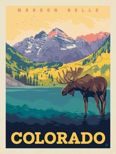 Discover recipes, home ideas, style inspiration and other ideas to try. Estes Park Colorado, Aspen Colorado, Denver Colorado, Colorado Springs, National Park Posters, National Parks, Vintage Travel Posters, Vintage Ski, Poster Vintage