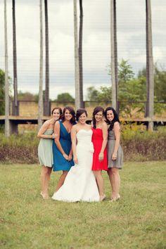 Bridesmaids' dresses via J.Crew - Lake Michigan Wedding from stephanie n. baker + Larisa Graham