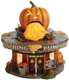 'The Wretching Pumpkin Cafe'. For a Halloween village.