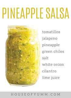 This blender salsa is loaded up with fresh pineapple tomatillos jalapeno and cilantro. Its bursting with a fresh sweet and spicy flavor that is perfect when paired with chicken or fish. - Blender - Ideas of Blender