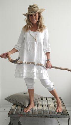 JOHANNA-Dress, WHITE - Linen dresses - By Pia's Design